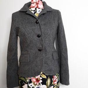 [J. CREW] Wool Fitted Herringbone Blazer/Coat